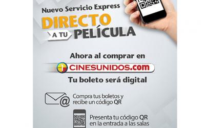 """""""DIRECTO A TU PELÍCULA"""" EL NUEVO SERVICIO EXPRESS DE CINES UNIDOS"""
