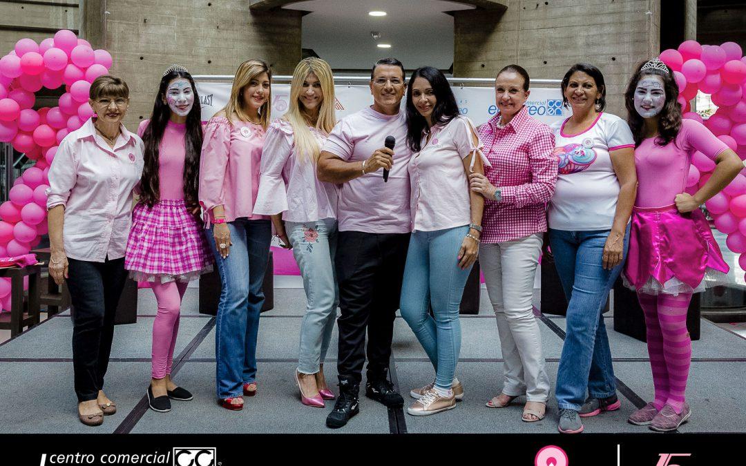 CENTRO COMERCIAL EL RECREO CELEBRÓ EL MES ROSA  Y  LOS 15 AÑOS DE SENOSALUD